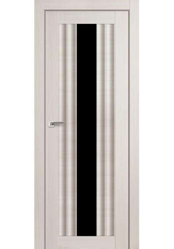 Дверь Профиль Дорс 53X Эш Вайт Мелинга Стекло Черный Триплекс
