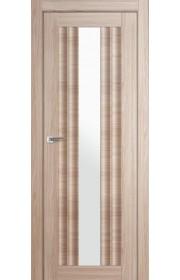 Дверь Профиль Дорс 53X Капучино Мелинга Стекло Белый Триплекс