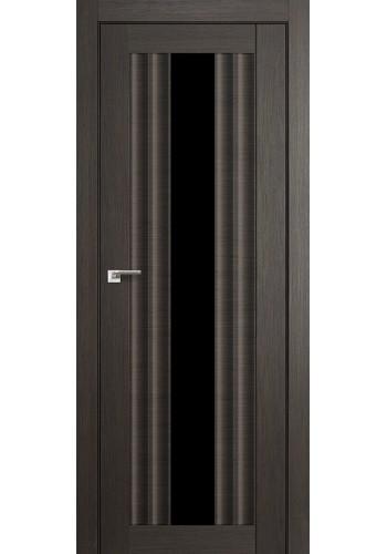Дверь Профиль Дорс 53X Грей Мелинга Стекло Черный Триплекс