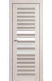 Дверь Профиль Дорс 55X Эш Вайт Мелинга Стекло Белый Триплекс