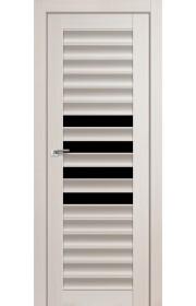 Дверь Профиль Дорс 55X Эш Вайт Мелинга Стекло Черный Триплекс