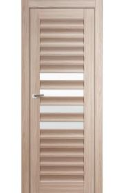 Дверь Профиль Дорс 55X Капучино Мелинга Стекло Белый Триплекс