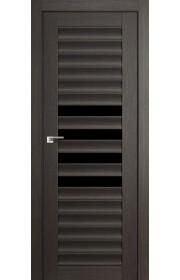Дверь Профиль Дорс 55X Грей Мелинга Стекло Черный Триплекс