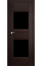 Дверь Профиль Дорс 61X Венге Мелинга Стекло Черный Триплекс