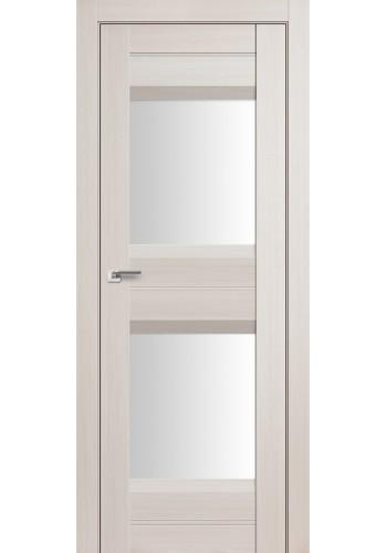 Дверь Профиль Дорс 61X Эш Вайт Мелинга Стекло Белый Триплекс