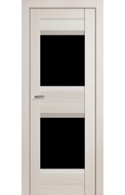 Дверь Профиль Дорс 61X Эш Вайт Мелинга Стекло Черный Триплекс