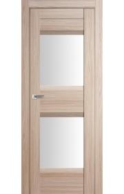 Дверь Профиль Дорс 61X Капучино Мелинга Стекло Белый Триплекс