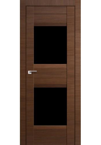 Дверь Профиль Дорс 61X Малага Черри Кроскут Стекло Черный Триплекс