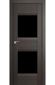 Дверь Профиль Дорс 61X Грей Мелинга Стекло Черный Триплекс