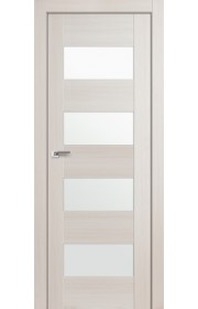 Дверь Профиль Дорс 46X Эш Вайт Мелинга Стекло Белый Триплекс
