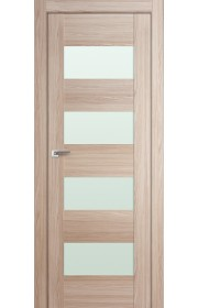 Дверь Профиль Дорс 46X Капучино Мелинга Стекло Белый Триплекс