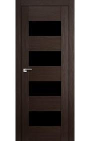 Дверь Профиль Дорс 46X Венге Мелинга Стекло Черный Триплекс