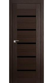 Дверь Профиль Дорс 48X Венге Мелинга Стекло Черный Триплекс