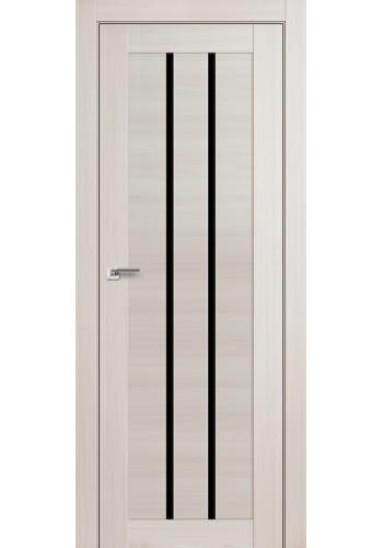 Дверь Профиль Дорс 49X Эш Вайт Мелинга Стекло Черный Триплекс