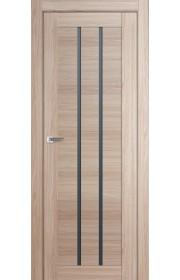Дверь Профиль Дорс 49X Капучино Мелинга Стекло Графит
