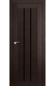 Дверь Профиль Дорс 49X Венге Мелинга Стекло Черный Триплекс