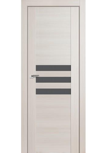 Дверь Профиль Дорс 74X Эш Вайт Мелинга Стекло Серебряный Лак