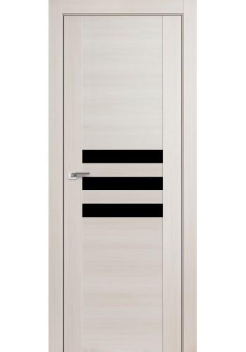 Дверь Профиль Дорс 74X Эш Вайт Мелинга Стекло Черный Лак
