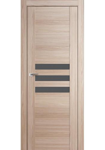 Дверь Профиль Дорс 74X Капучино Мелинга Стекло Серебряный Лак