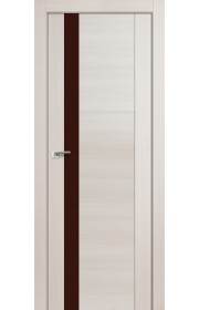 Дверь Профиль Дорс 62X Эш Вайт Мелинга Стекло Коричневый Лак