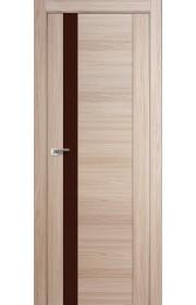 Дверь Профиль Дорс 62X Капучино Мелинга Стекло Коричневый Лак