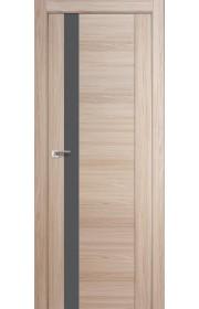 Дверь Профиль Дорс 62X Капучино Мелинга Стекло Серебряный Лак