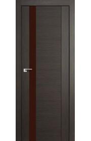Дверь Профиль Дорс 62X Грей Мелинга Стекло Коричневый Лак
