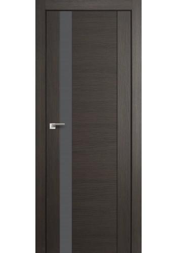 Дверь Профиль Дорс 62X Грей Мелинга Стекло Серебряный Лак