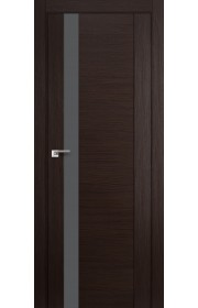 Дверь Профиль Дорс 62X Венге Мелинга Стекло Серебряный Лак