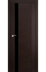 Дверь Профиль Дорс 62X Венге Мелинга Стекло Черный Лак