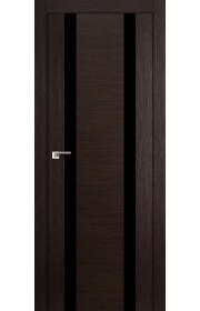 Дверь Профиль Дорс 63X Венге Мелинга Стекло Черный Лак