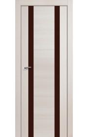 Дверь Профиль Дорс 63X Эш Вайт Мелинга Стекло Коричневый Лак