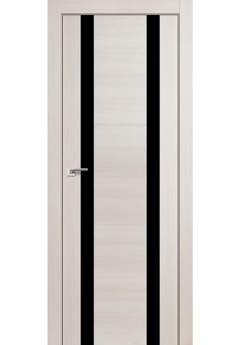 Дверь Профиль Дорс 63X Эш Вайт Мелинга Стекло Черный Лак