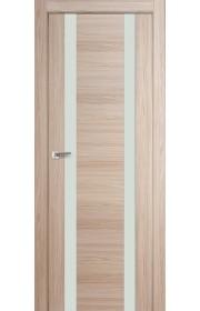 Дверь Профиль Дорс 63X Капучино Мелинга Стекло Белый Лак