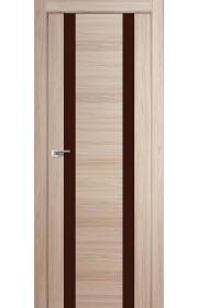 Дверь Профиль Дорс 63X Капучино Мелинга Стекло Коричневый Лак
