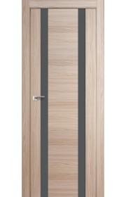 Дверь Профиль Дорс 63X Капучино Мелинга Стекло Серебряный Лак