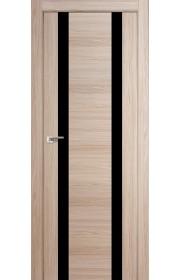 Дверь Профиль Дорс 63X Капучино Мелинга Стекло Черный Лак