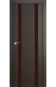 Дверь Профиль Дорс 63X Грей Мелинга Стекло Коричневый Лак