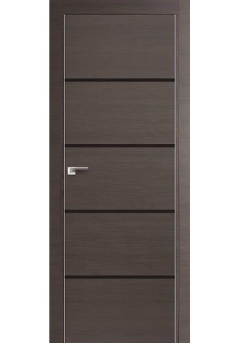 Дверь Профиль Дорс 20Z Грей Кроскут Стекло Темно-коричневый