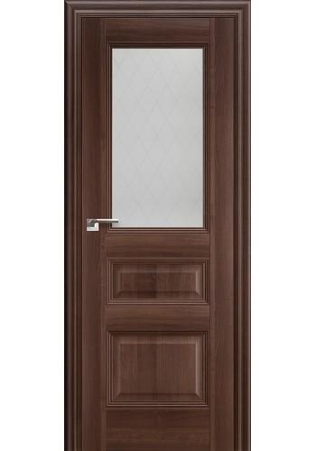 Дверь Профиль Дорс 67X Орех Сиена Стекло Ромб