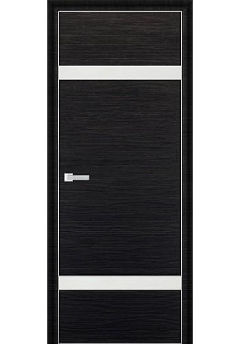 Дверь Профиль Дорс 3D Черный Браш Стекло Белый Лак