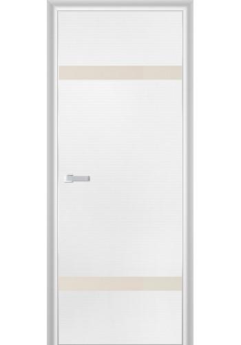 Дверь Профиль Дорс 3D Белая Волна Стекло Перламутровый Лак