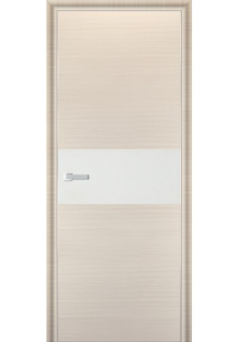 Дверь Профиль Дорс 4D Беленый Дуб Браш Стекло Белый Лак