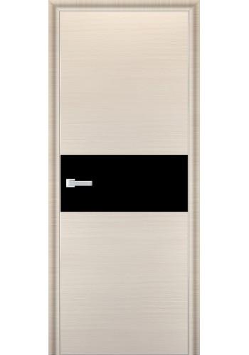 Дверь Профиль Дорс 4D Беленый Дуб Браш Стекло Черный Лак