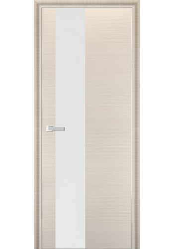 Дверь Профиль Дорс 5D Беленый Дуб Браш Стекло Белый Лак