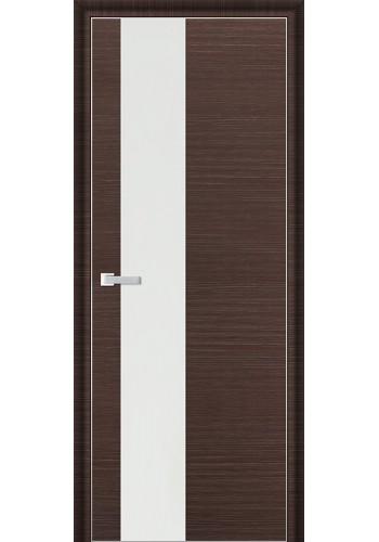 Дверь Профиль Дорс 5D Венге Браш Стекло Белый Лак