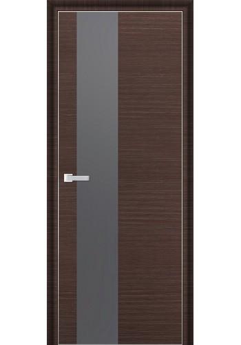 Дверь Профиль Дорс 5D Венге Браш Стекло Серебряный Лак