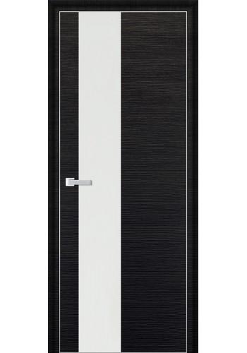 Дверь Профиль Дорс 5D Черный Браш Стекло Белый Лак