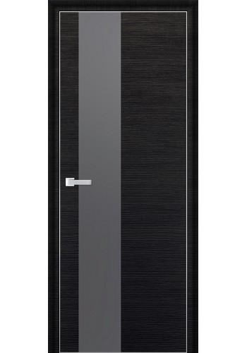 Дверь Профиль Дорс 5D Черный Браш Стекло Серебряный Лак