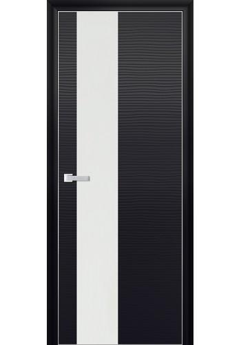 Дверь Профиль Дорс 5D Черная Волна Стекло Белый Лак
